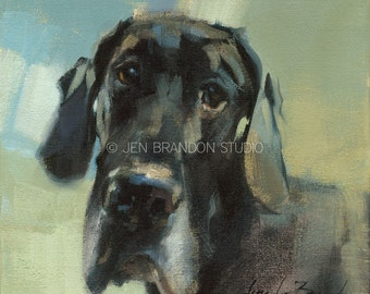 Mac Great Dane Portrait Giclée Fine Art Print