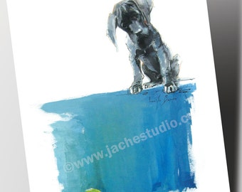 """Note Cards - Set of 10 Greeting Cards - """"Mac Pup"""""""