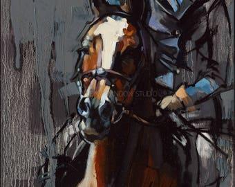 Horse Portrait Giclée Fine Art Print
