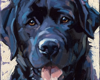 Black Lab Pet Portrait Giclée Fine Art Print