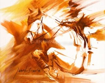Equestrian Moment Giclée Fine Art Print