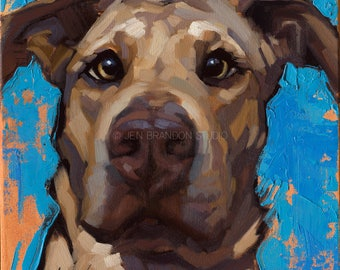 Dog Pet Portrait - Alla Prima Painting