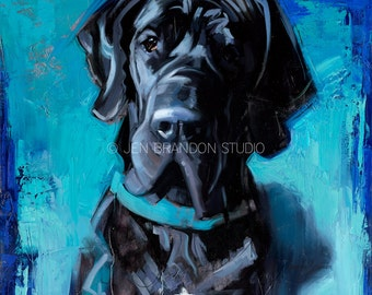 Tucker the Great Dane Giclée Fine Art Print
