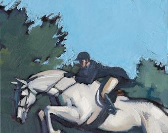 Gray Jumper Horse Giclée Fine Art Print