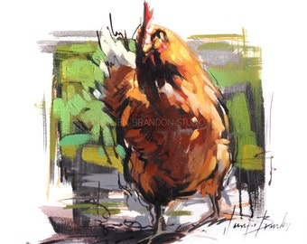Chicken 3 Oil Painting