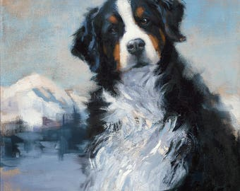 Bernese Mountain Dog Giclée Fine Art Print
