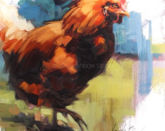 Chicken 2 Oil Painting