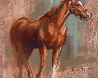 Horse Painting Show Horse - Alla Prima Painting