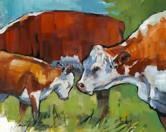 Having a Mooment - Cow Giclée Fine Art Print