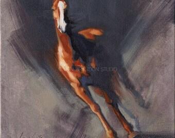 Horse Running - Alla Prima Painting