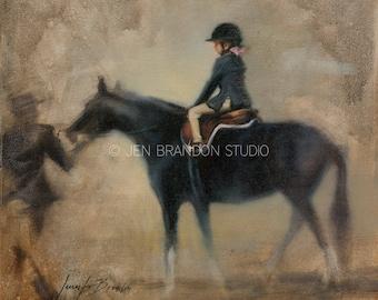 Girl and Pony Giclée Fine Art Print