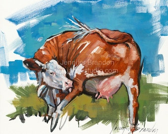 Cowlick Oil Painting