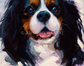 King Charles Spaniel Puppy - Original Oil Painting