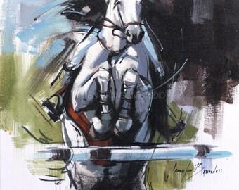 Gray Hunter Jumper Oil Painting