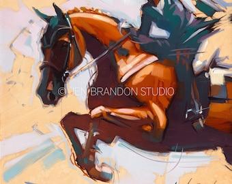 Jumper Horse Show Horse Art - Original Oil  Painting