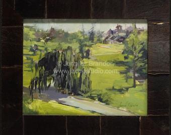Mohonk Mountain Entrance - Plein Air Oil Painting by Jennifer Brandon - Jaché Studio
