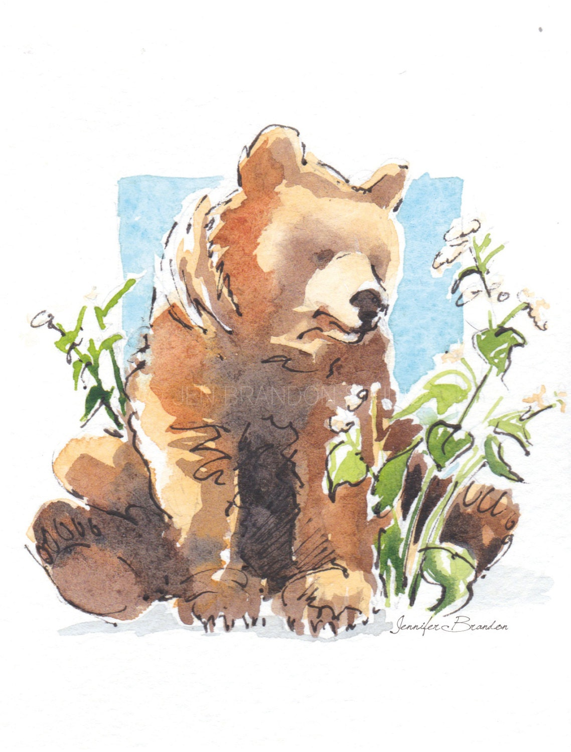 Note Cards - Set of 10 Greeting Cards - Artisan Cards -Bear, Animals ...