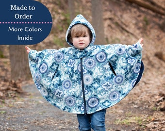 Car Seat Poncho - Carseat Poncho Girl - Poncho with Zipper - Toddler Poncho - Infant Car Seat Cape