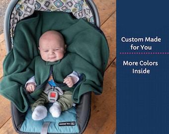 Baby Carseat Poncho - Car Seat Poncho Boy - Toddler Fleece Poncho - Infant Car Seat Poncho Girl - Poncho with Zipper