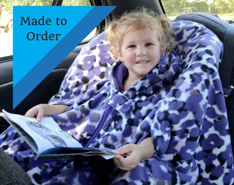 Car Seat Poncho, Carseat Poncho Boy, Girls Car Seat Coat, Toddler Poncho, Poncho for Baby, Poncho without Hood,