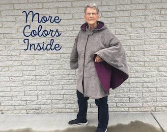 Luxury Fleece Poncho, Wheelchair Coat, Ladies Fleece Cape