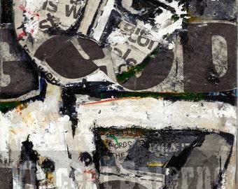 Good Boy Original Collage Mixed Media Art On Wood-Street Art-Urban Art-Graffiti Painting-Newsprint Art-Fashion-Male Art-Queer Art-Punk-Pop