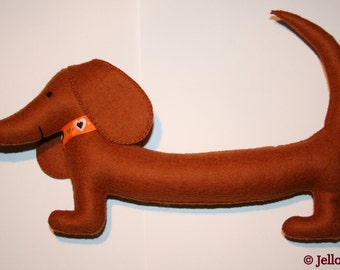 The Jello stuffed toy Dachshund