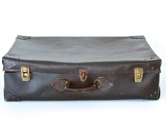 Large Brown Vintage Suitcase