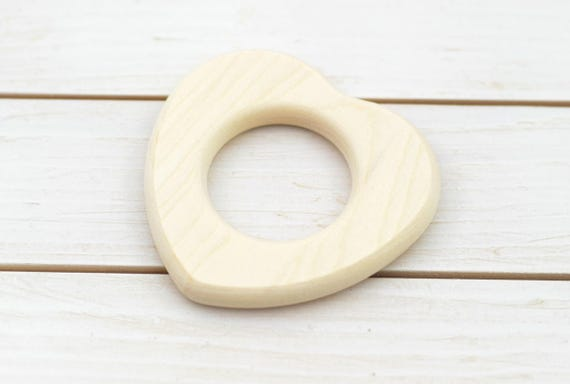 Set of 10 Organic Teething Rings 60mm. 2 1//3in Natural Eco Toy Wooden Rings