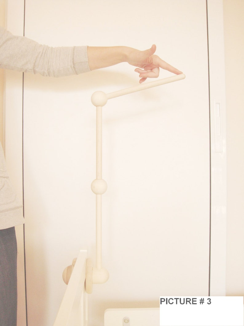 Universal Wooden Stand / Arm / Holder For Baby Crib Bed