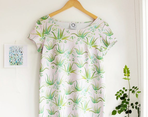 SALE! -Aloe Vera Dress in Organic Cotton Jersey