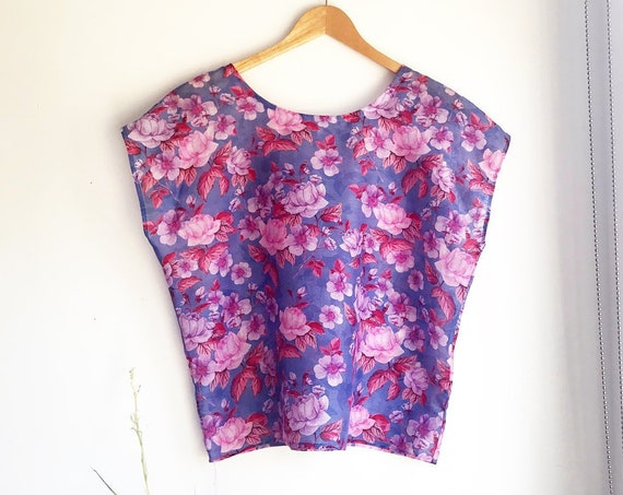 Pink Rose Tee in Cotton Silk