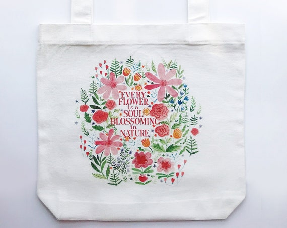Flower Soul Tote Bag