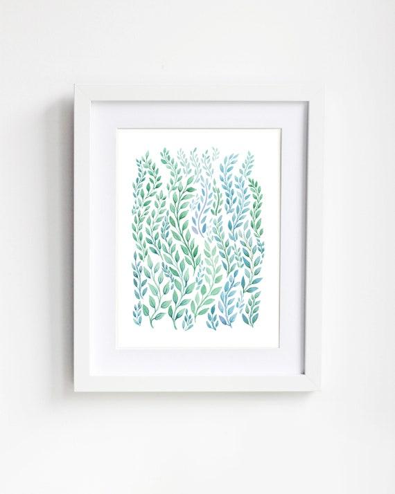 Leaf Forest Art Print