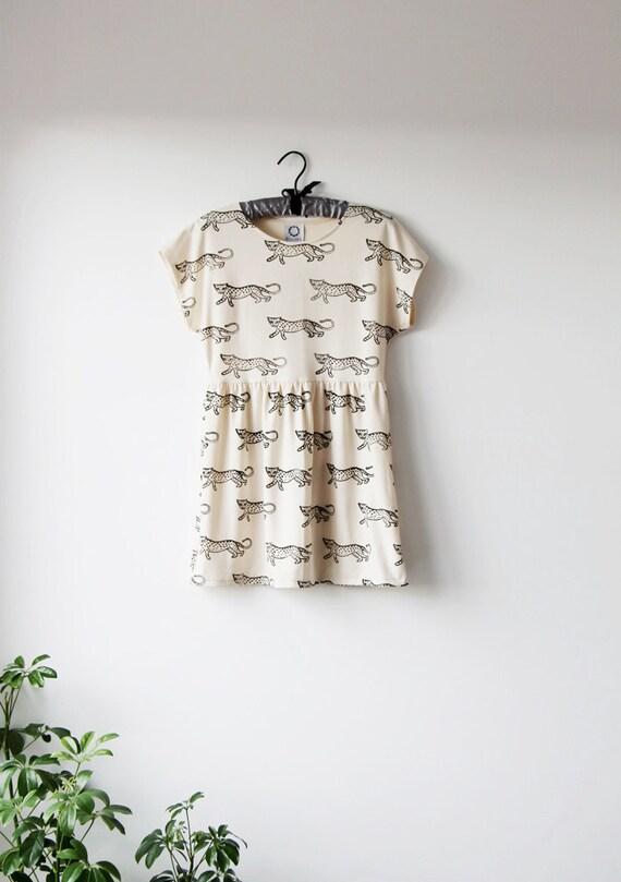 SALE! - Leopard Dress in Bone Jersey