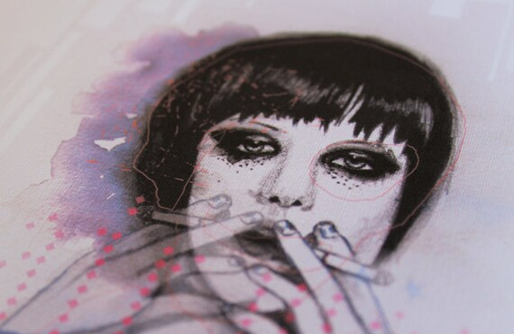SALE! Alice Glass Smoking -  A4 Print