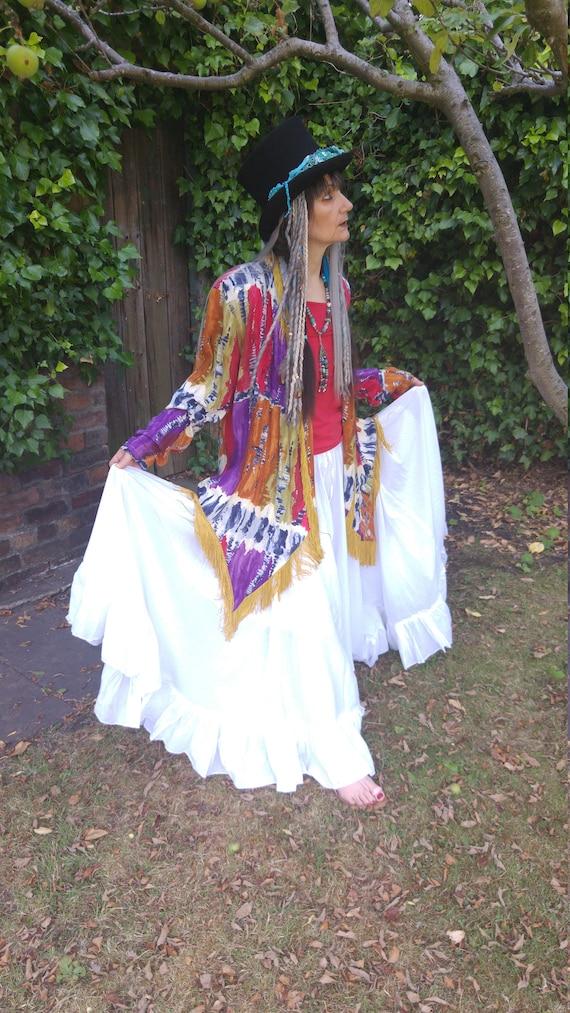 country chic bohemian jacket ibiaz ham stevie boho western very vittage tie nicks fringe hippie pixe bohemian dye oak gypsy gwqFT