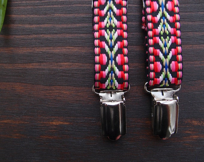Thin boho suspenders for women, sister vegan gift