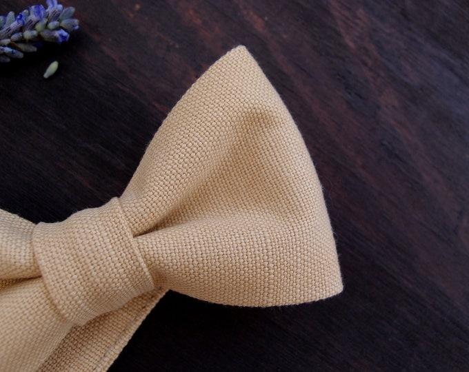Groomsmen bow tie, natural cream bow tie, men bow ties , summer wedding bowtie, mens gift
