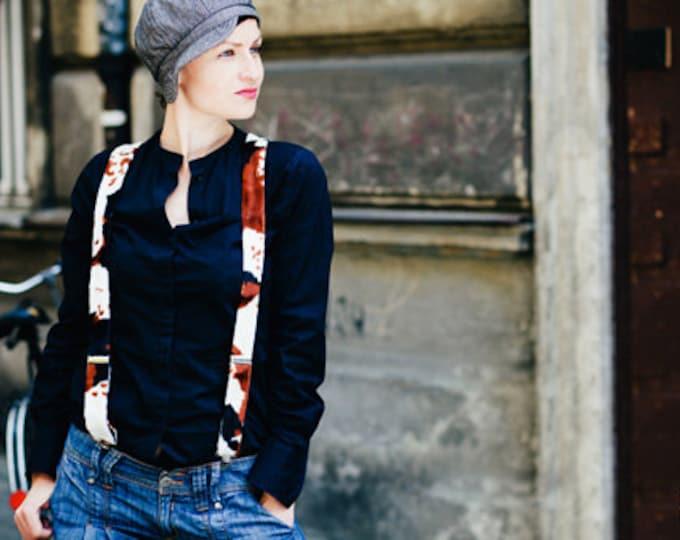 Women braces, womens suspenders with animal print, feminist gift, velvet suspenders, animal suspenders, women in suspenders