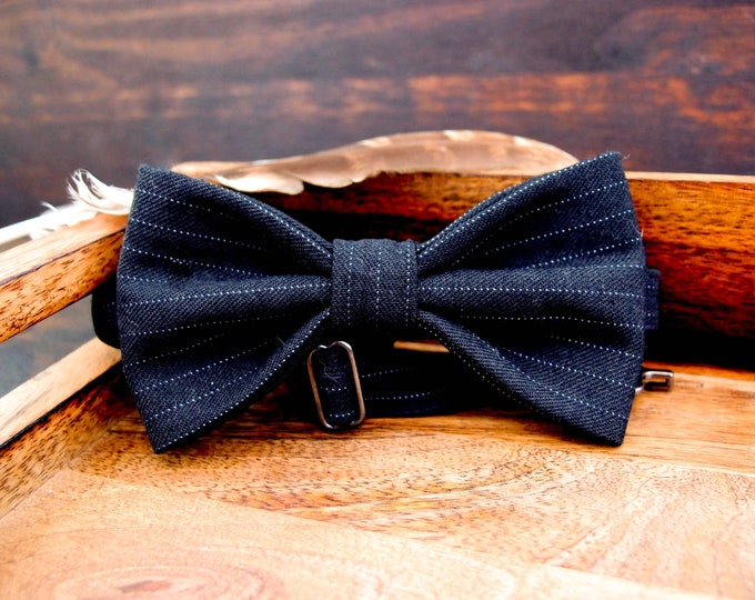 Groomsmen bow tie, Wedding party bow tie, gift ideas for husband, grooms and groomsmen bow tie, black bow tie