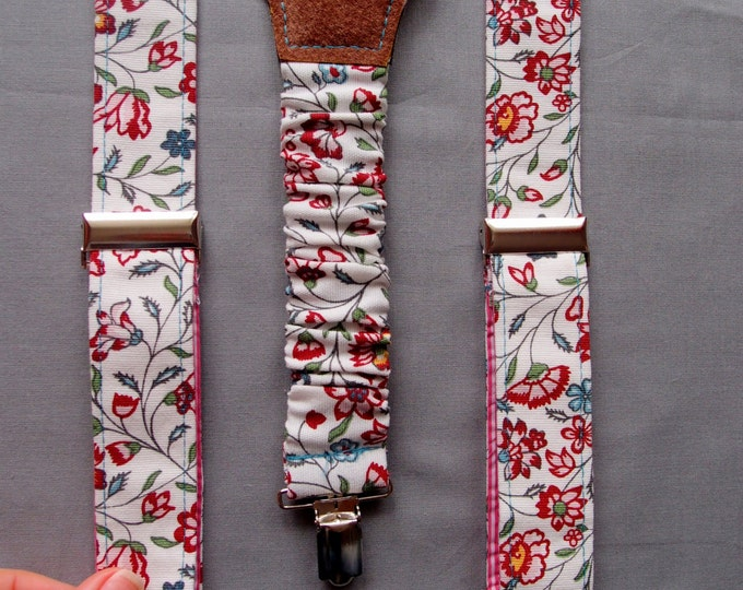 Floral Women Suspenders, Feminine Suspenders, Womens Braces, Y-back suspenders, Christmas gift ideas for daughter