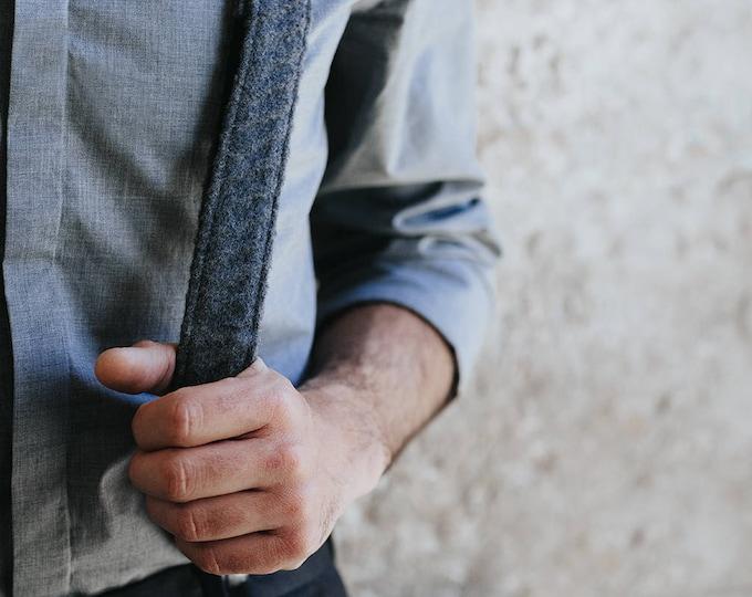 Mens suspenders, gray suspenders, mens braces, gift for him, gift for husband, men's accessories, wool suspenders men