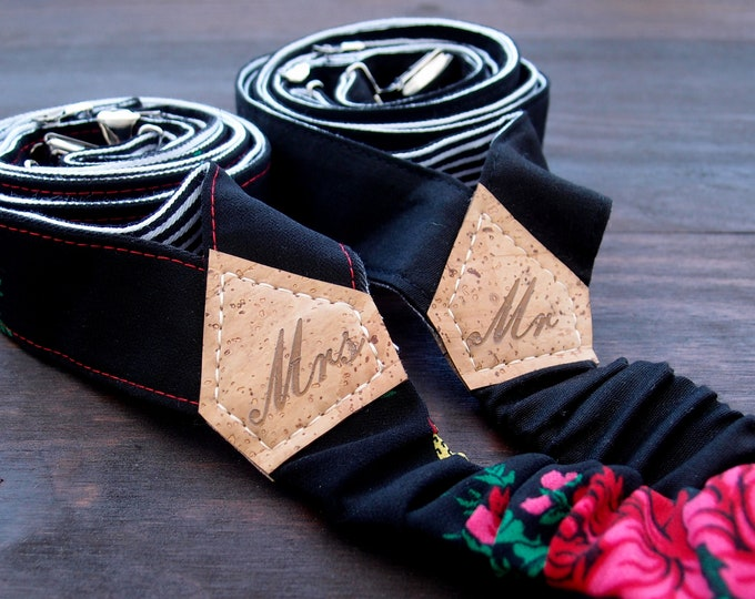 Mr and Mrs suspenders, Mr and Mrs gift,  matching couple gifts, wedding gift ideas