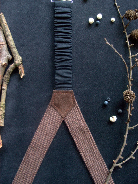 Brown Mens Suspenders With Clips Groomsmen Suspenders Wedding