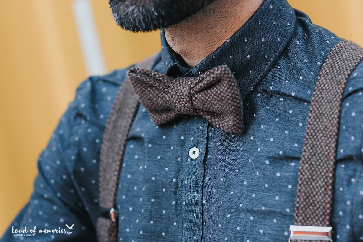 Grooms suspenders with matching bow tie, wide groomsmen suspenders ...