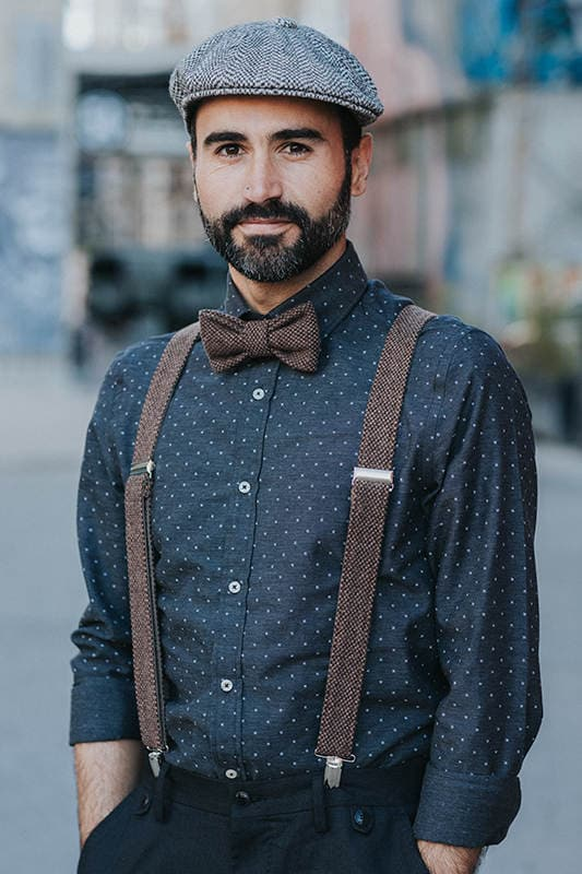 31cee08d4f12 Rustic bow tie and suspenders, Mens bow tie and matching suspenders, Brown Suspenders  Set for groom or groomsmen