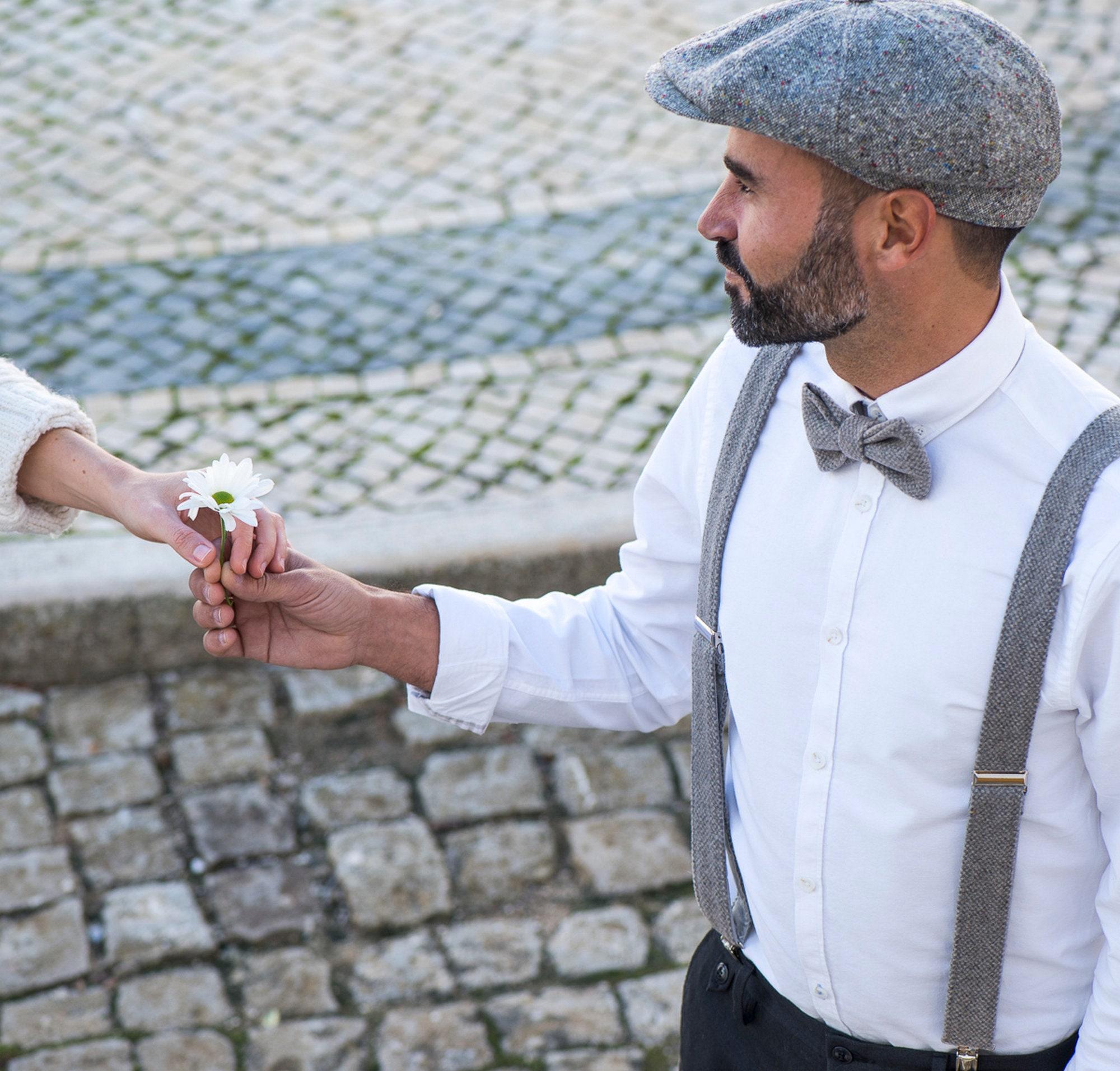 0592138357df Wedding suspenders set, Adult ring bearer suspenders, Grooms braces set,  Suit suspenders set, Men wedding clothing