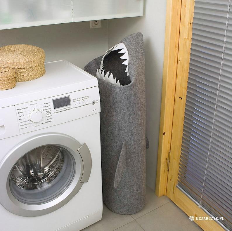 SHARK Laundry basket Basket bin Toy storage Laundry image 0