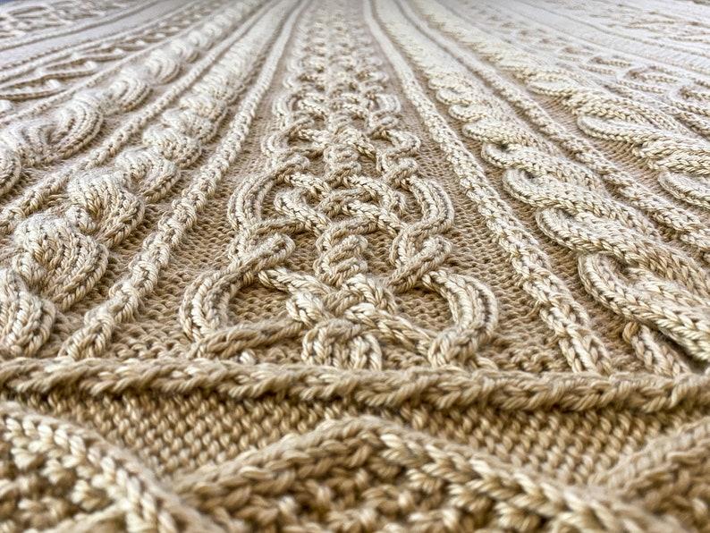 November Aran Afghan Cables Fisherman Knitting Pattern